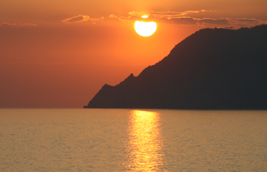 Solnedgang Riomaggiore